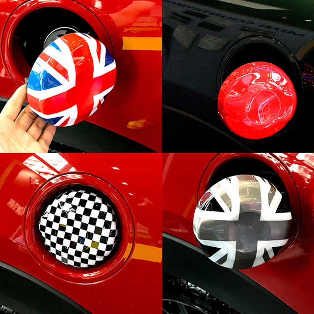 Abs Union Jack Flag Fuel Tank Cap Cover Sticker Case Decoration For