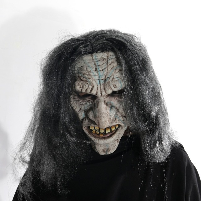 Full Face Devil Scary Face Mask for Cosplay Latex Mask Horror Masquerade Adult Ghost Halloween Theater Props Party Decoration
