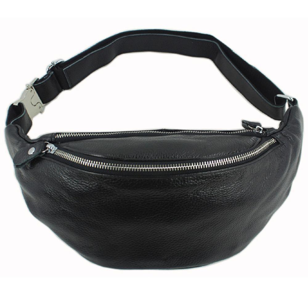Fashion New 2015 genuine leather waist bag men leather waist packs men money belt bag fanny