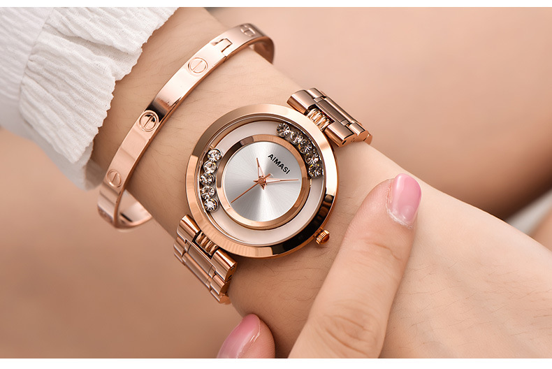 2018 nuevo Aimasi marca relojes mujer Ladies moda de lujo de oro ... 83e16c90671a