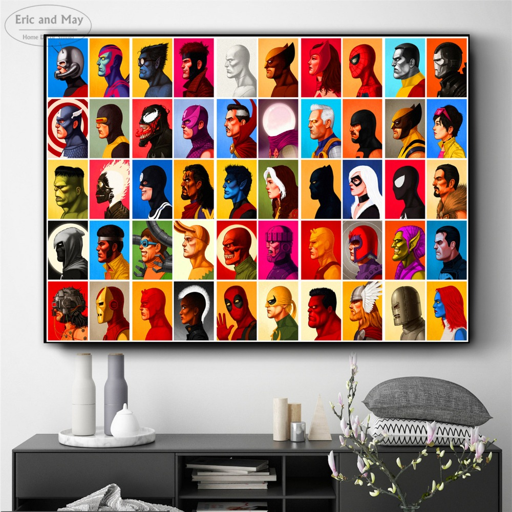 Superheroes Comic Figures Posters And Prints Wall Art Decorative Picture Canvas Painting For Living Room Home Decor Unframed