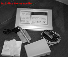Permanent Makeup Cosmetic Tattoo Machine Kits Power Supply Adapter Supply+100pcs free needles