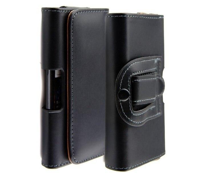 Patrón suave/del patrón de lichee funda de piel bolsas móvil casos con clip de c