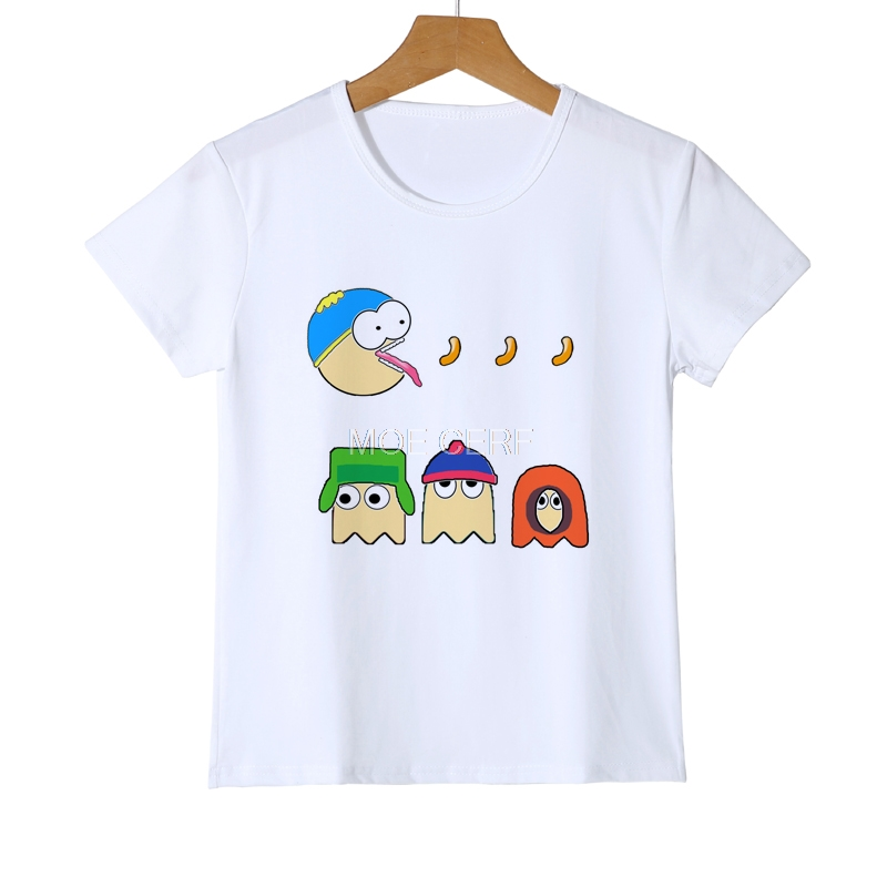 Funny Cartoon South Park kids T Shirts Boy Pattern Girl Tshirts Short Sleeve 3D cartoon  ...