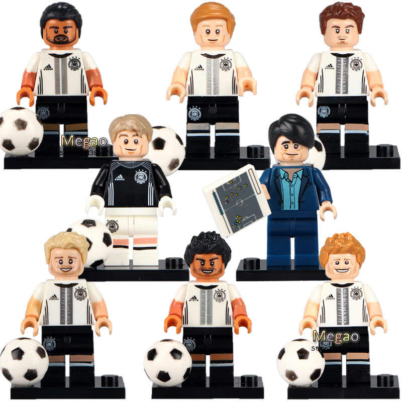 Individually Sale Mario Gotze Max Kruse Sami German Soccer Team Blocks 71014 Building Blocks Children Christmas Gift Toys