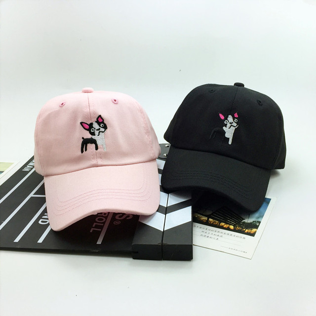 Moda gorras 2016 verão novo boné de beisebol chapéus para mulheres coréia bonito dos desenhos animados do filhote de cachorro para o casal harajuku rosa snapback tampas