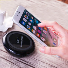 Cordless Chargers Pad Portable Qi Wireless Charger 7.5W10W Fast Charge Inductive Round Desktop Phone Holder For Xiaomi HuaweiP30