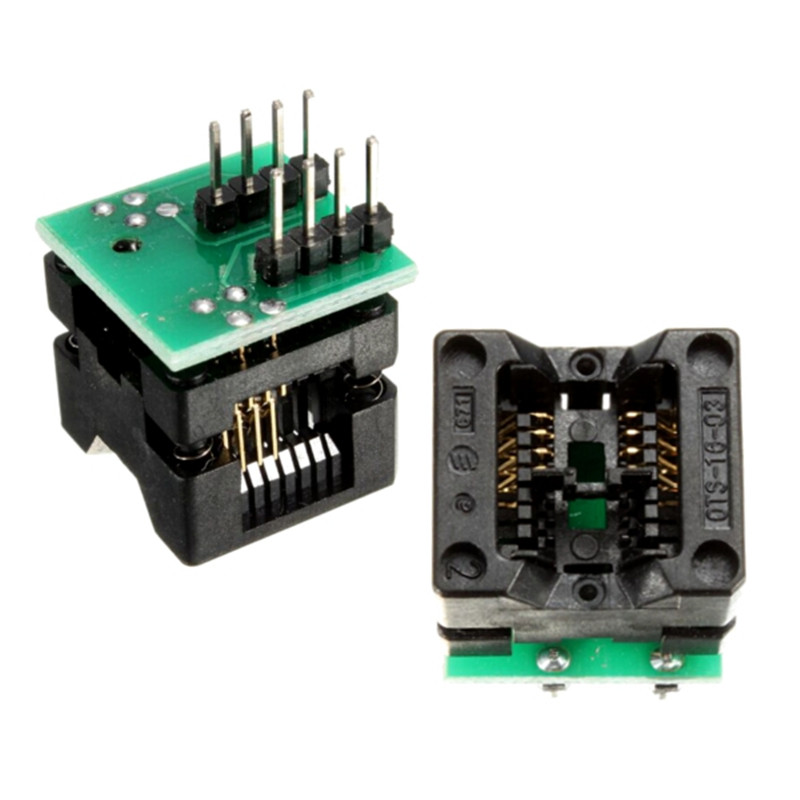 SOIC8 SOP8 to DIP8 EZ Socket Converter Module Programmer Output Power Adapter With 150mil Connector SOIC 8 SOP 8 To DIP 8 sop8 to dip8 programming adapter socket module black green 150mil
