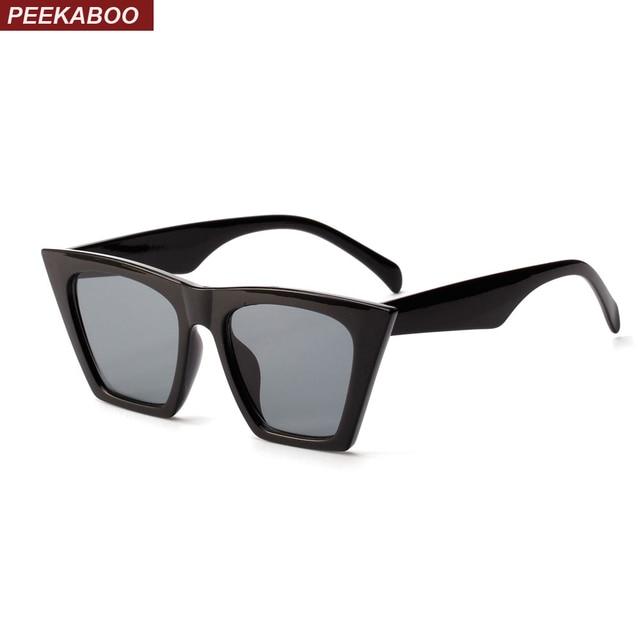 f216b53771bef Peekaboo flat top cat eye sunglasses women brand designer 2018 red white  black cheap sun glasses for women men uv400