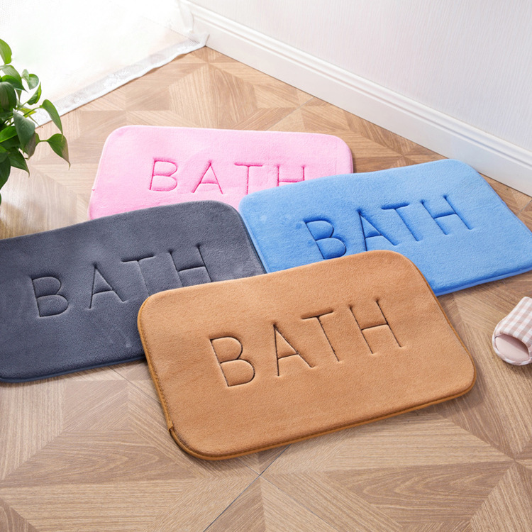 40x60cm Bath mat memory carpet rugs toilet funny bathtub Room living room door stairs bathroom foot floor mats home textile dec