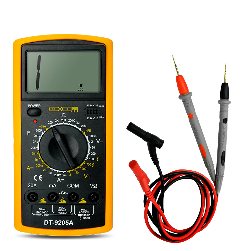 Yaogong digital multimeter manual DT9205a мультиметр fuke dt9205a ac dc lcd dt9205a