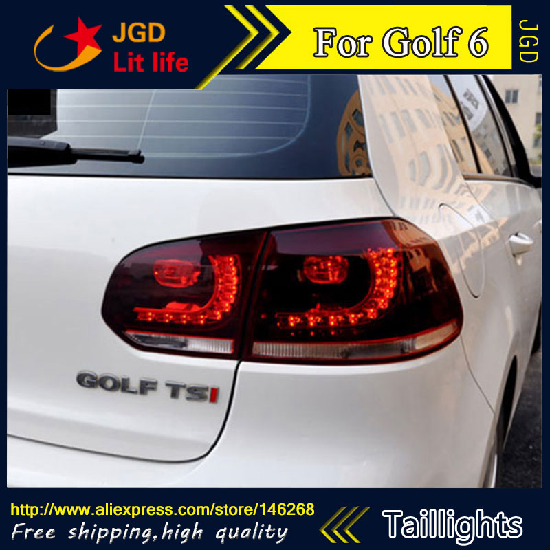 Car Styling tail lights for VW Golf 6 2009-2012 LED Tail Lamp rear trunk lamp cover drl+signal+brake+reverse car styling tail lights for toyota prado 2011 2012 2013 led tail lamp rear trunk lamp cover drl signal brake reverse