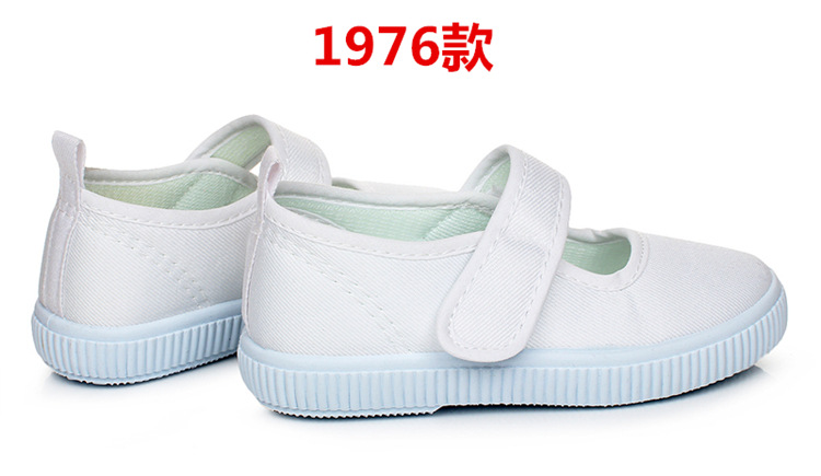 7e285f074 17 Spring New girls boys white school shoes canvas kids Soft bottom baby  girl sneakers white gym shoes Children dance shoes