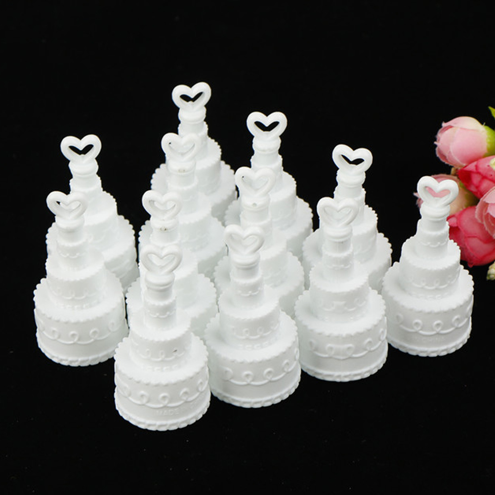 5/12pcs White Cake Empty Bubbles Soap Bottles Romantic Wedding Birthday Party Decor Event Festival Supplies Kid Toy