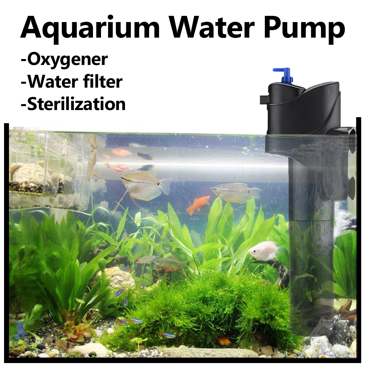 1pcs Ac220 240v 6w Submersible Water Aquarium Circulating Filtering