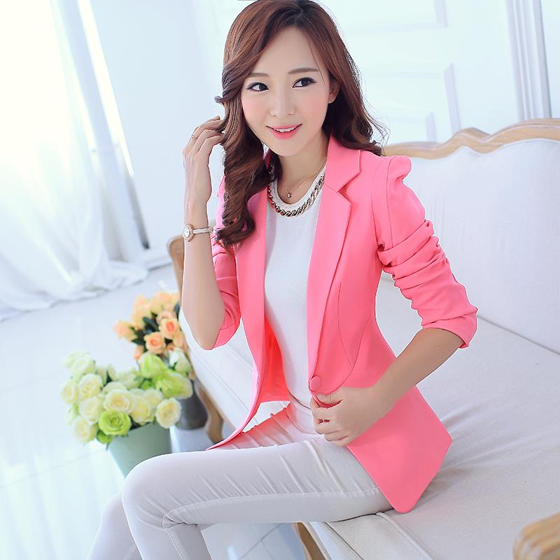 1e994210229 plus size 2015 spring women sexy casual blazer outerwear regular full  notched formal caoats short design all-match suits blazers