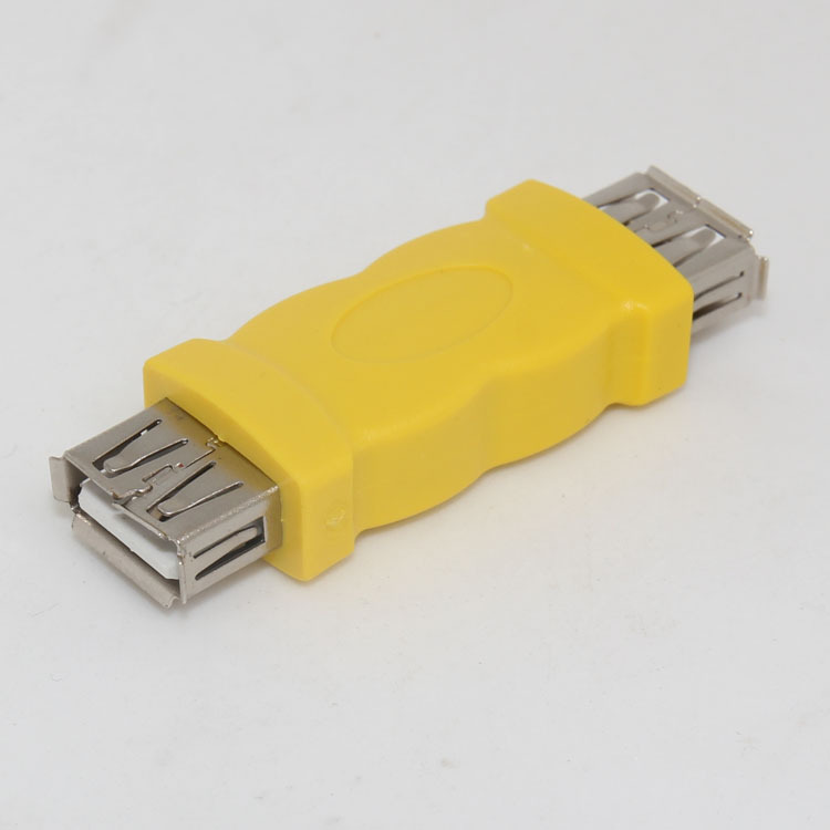 100pcs lot USB A Type Female to A Type Female extended adapter USB2 0 AF to