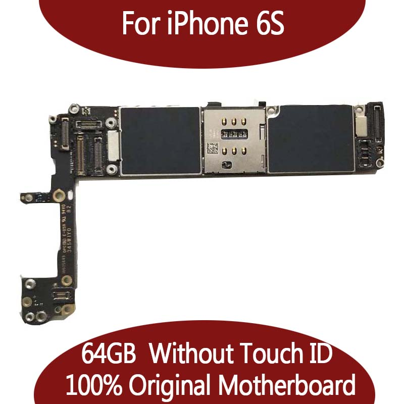 64 ГБ для iphone 6S материнская плата без Touch ID, оригинальный разблокирована плата, 100% хорошо работает