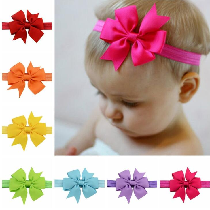 1 Piece MAYA STEPAN Headwrap Bowknot Baby Headbands Headwear Girls Bow Knot Hairband Head Band Infant Newborn Bows Toddlers Gift