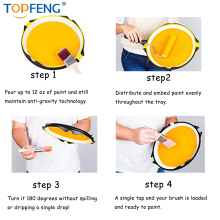 TopFeng paint 2It Pro-палитра анти-гравитационных поддонов. Многофункциональный комплект премиум-класса для легкой окраски. Не проливается, не капает, не беспорядок