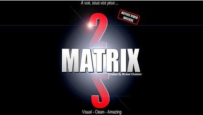 Nouveautés Matrix 2.0 (bleu ou rouge) de Mickael Chatelain, tour de Magie, Magie des cartes, gros plan, Illusion, Magie des rues, Magie des cartes, amusement