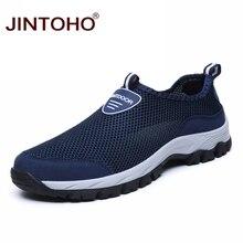 Лето jintoho дышащая мужская обувь сетчатая Мужская Спортивная обувь уличные дешёвые спортивные туфли мужские кроссовки спортивная обувь для мужчин