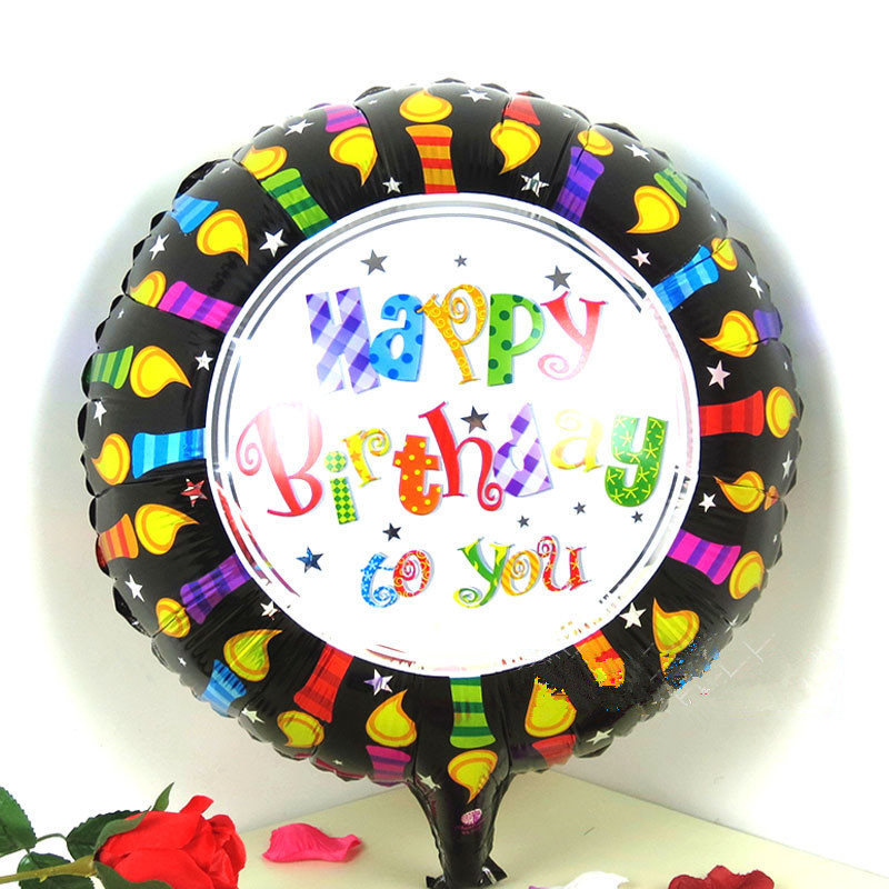 18 inches Happy Birthday Candles Globos Aluminum Foil Balloons Children Party De