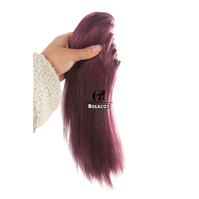 ROLECOS Game LOL KDA Akali Cosplay Hair LOL K/DA Akali Synthetic Hair New Skin Cosplay Headwear Long Purple Hair for Women 5