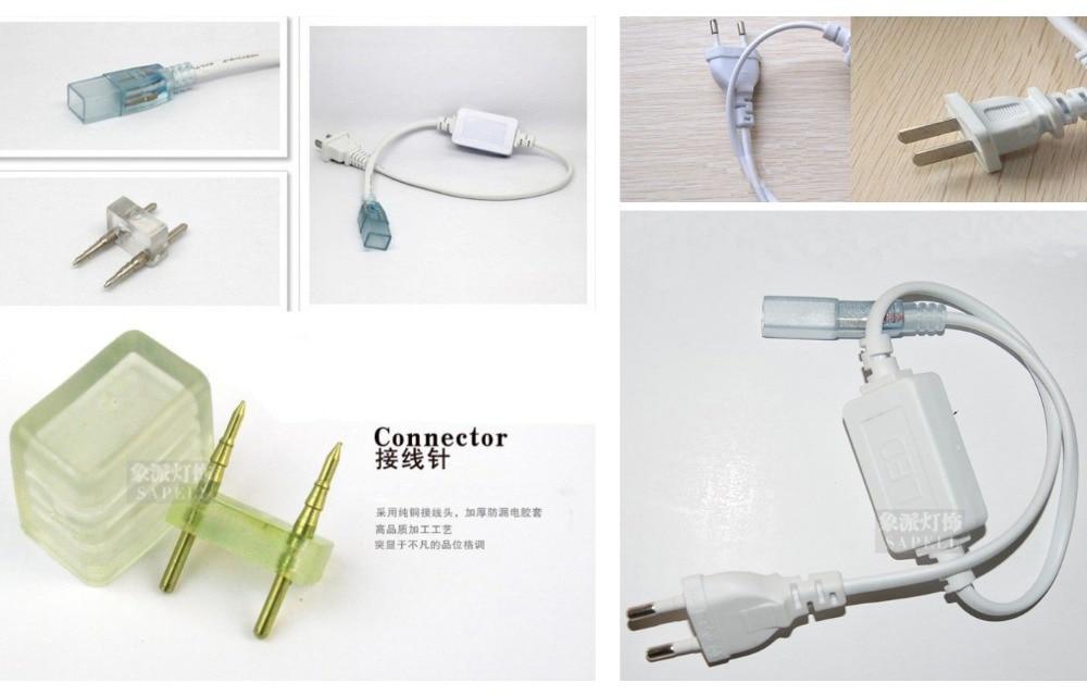 5050 LED ժապավեն 220V 230V 240V 5M / Roll սպիտակ RGBY - LED լուսավորություն - Լուսանկար 6