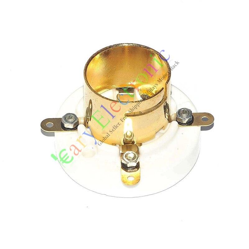 1pcs ceramic tube socket 4 pin tube socket GZC4-1B-G golden foot for 300B 2A3 811 tube amplfier 2pcs ceramic tube socket gzc7 c g tablet 7 pin golden foot for 6c33 fu29 fu19 fu32 fu30