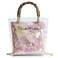 Bags for Women 2018 Clear Transparent PVC Bag Jelly Shoulder Bag Weaving Composite Bag Women Crossbody Luxury Sac Femme