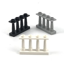 Kilitleme blokları 5 adet/takım MOC parçaları bahçe çit DIY yapı taşları tuğla oyuncaklar çocuklar için şehir Creator parçaları blok