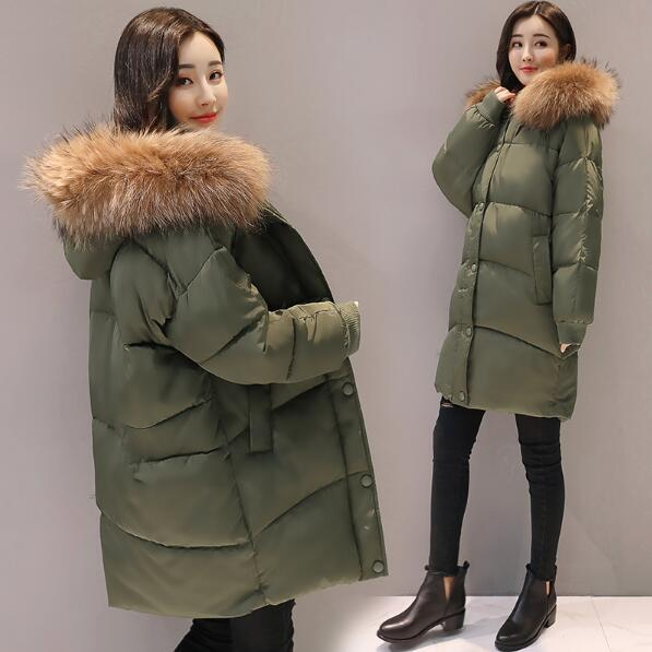 e147e94e6f44e Maternity Winter Coats 2019 Pregnant Women Casual Bat Sleeve Thicken Solid Parkas  Jackets Faux Fur Collar Hooded Outwear