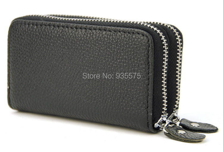 100 Genuine Real Cow Leather Coin Key Holder Wallet Bag