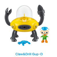 Free shipping by trackable shipping original Octonauts Claw & Drill GUP D vehicle figures toy, bath toy child Toys