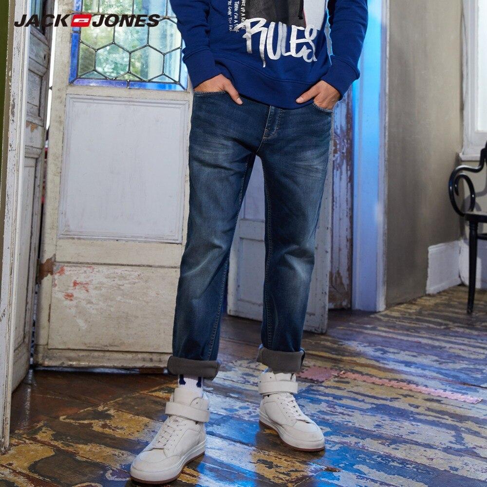 JackJones męskie zimowe Stretch Slim Fit Jeans Stretch Biker spodnie moda klasyczny Denim jeansy męskie Slim męskie dżinsy  218332517 w Dżinsy od Odzież męska na  Grupa 1