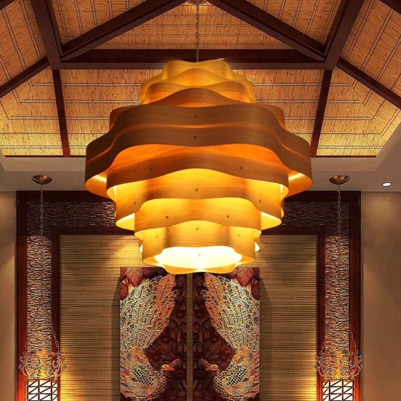 Modernes Design Holz Art Deco Chinesischen Stil Holz Pendelleuchte ...