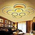Двухстороннее светящееся кольцо  Светодиодная потолочная лампа для дома  гостиной  спальни  столовой  прохода  потолочные светильники  бизн...