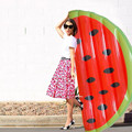 Summer Water 1.8M Inflatable Half Watermelon Pool Float Inflated Watermelon Slice Outdoor Pool Toy Water Sport Raft Party Favors
