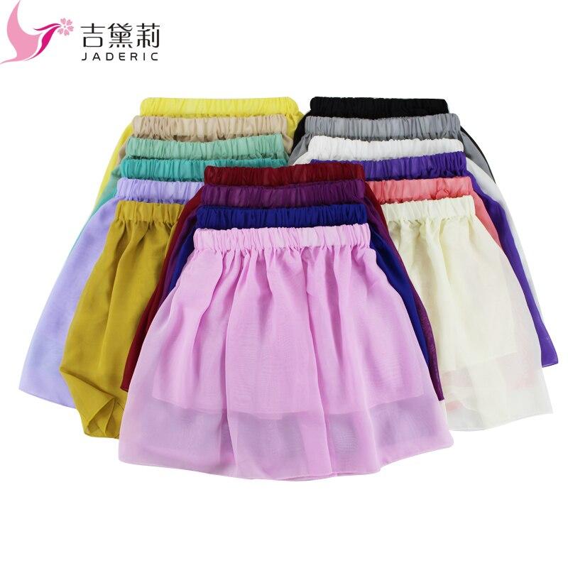 Jaderic New 2018 Casual Summer Style Dámské šifónové mini skládaná sexy sukně Krátká sukně pro ženy Vysoký pas sukně Dámské oblečení