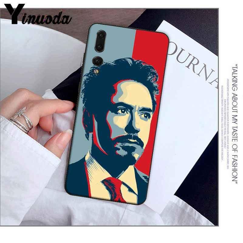 Yinuoda Marvel Iron Man TPU Mềm Ốp Lưng điện thoại Huawei Mate9 10 Mate10 Lite P9 P10 Plus P20 Pro honor10 View10 Điện Thoại Di Động