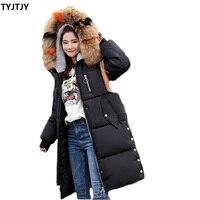 Winter jacket women fashion camperas mujer abrigo invierno 2019 HOT new thickening casaco feminino long fur collar down jacket
