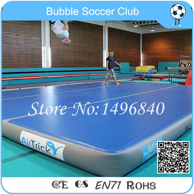 Gym Mats B M: Hot Sale 4x4x0.2m Fitness Airtrack Inflatable Exercise Gym