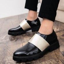 4b38aff9e Nova Tendência de Negócios Festa Vestido Calçados Masculinos Anti-Slip Sapatos  Masculinos Preguiçosos Sapatos de Sola Grossa de .