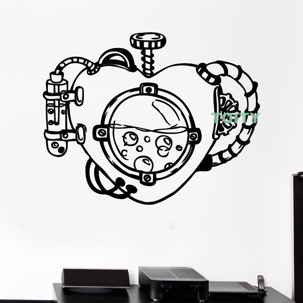 Mechanical Heart Wall Decal Steampunk Vinyl Stickers Interior Home ...
