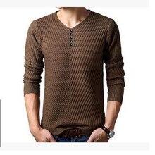Neuen männer Bodenbildung Pullover männer Pullover V-pullover Einfarbigen Pullover Männer Langarm-shirt Männer Wolle Casual