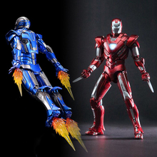 1/12 On Sale 15.3 cm Iron Man Comicave Studios 1/12 Metal Iron Man MK33 Type Centurion Figure Model Light Toys