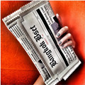Newspapers modeling design unique fashion creative personality letter women envelope bag casual clutch purse chain evening bags