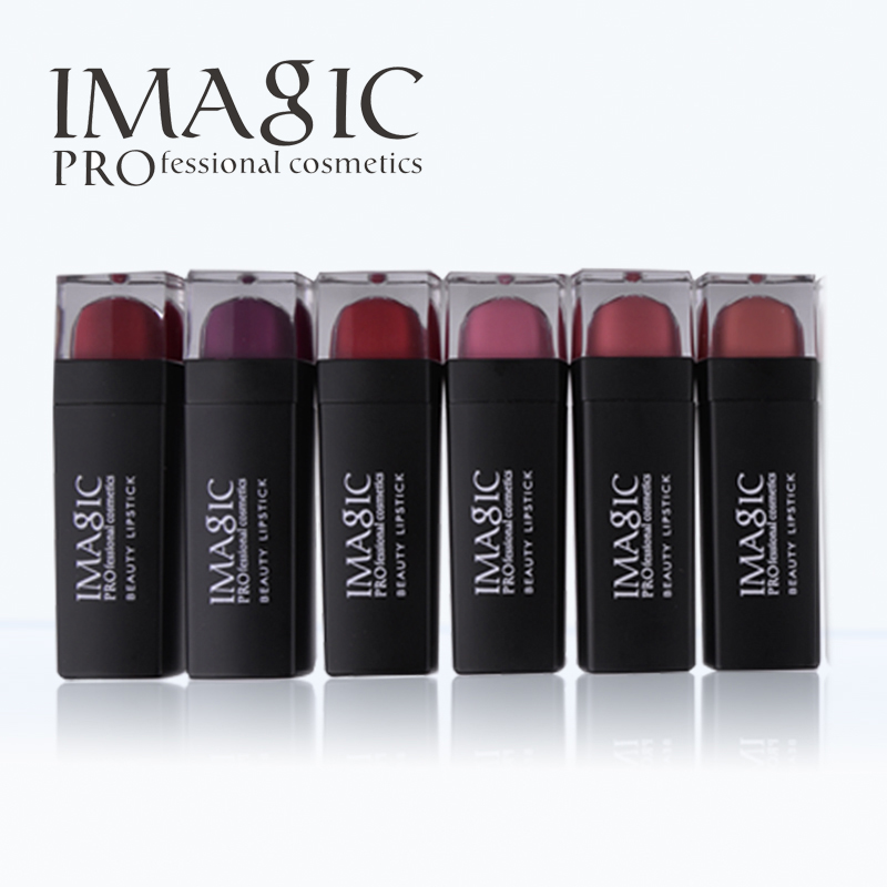 IMAGIC 12 color lipstick long lasting waterproof lipgloss beauty makeup cosmetics Lip Balm Color Variety of colors lipstick for alcatel one touch idol 3 6045 ot6045 lcd display digitizer touch screen assembly free shipping 10pcs lots free dhl
