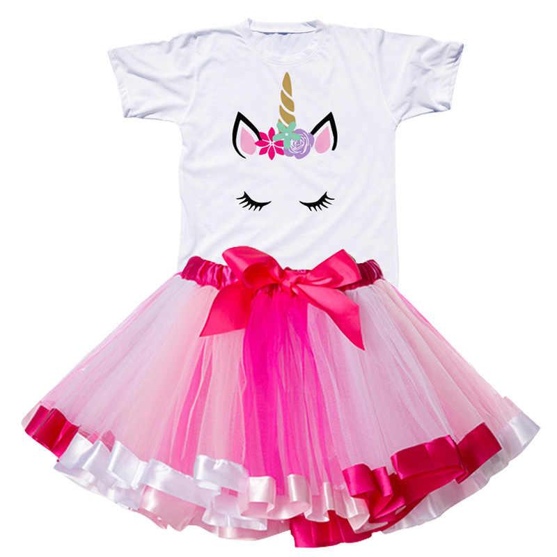 2020 menina unicórnio tutu vestido arco-íris princesa meninas vestido de festa da criança do bebê 1 a 8 anos roupas de aniversário crianças crianças roupas